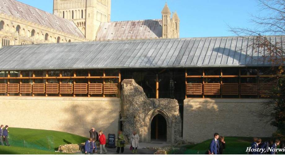 Hostry at Norwich Cathedral, a client of Stefan Lipa Consultancy Ltd