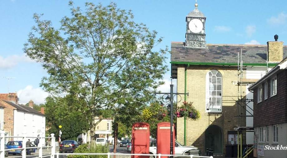 Stockbridge Town Hall on page showing contacts for Stefan Lipa Consultancy Ltd